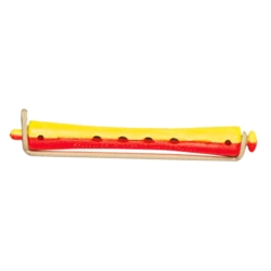 BIGOUDIS EFA LONGS JAUNE/ROUGE  9 mm